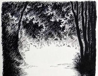 Moody river sketch from Paulina Abakos beautifull photo