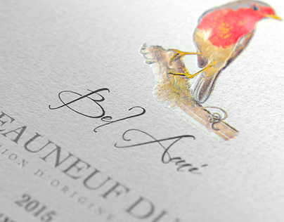 "Wine label and logotype for ""Guillaume Gonnet vigneron"""
