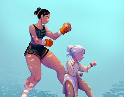 Character Design Challenge - Street Fighter - Chun Li