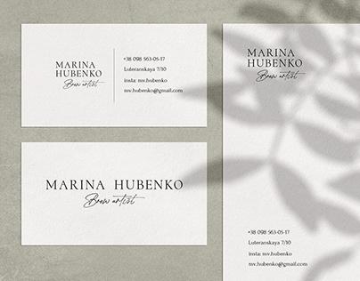 Business card design for brow artist.