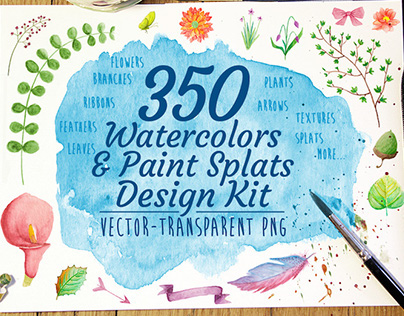 Watercolor Designer Kit