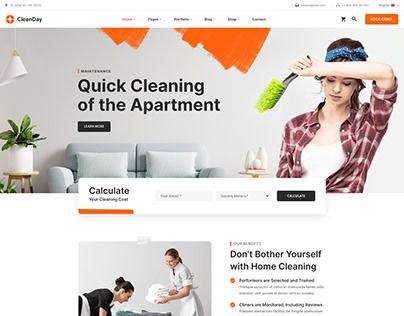CleenDay - Cleaning Company WordPress Theme