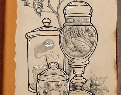 Tattoo sketches in Inktober 2020