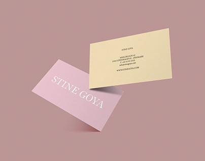 Businesscard for Stine Goya