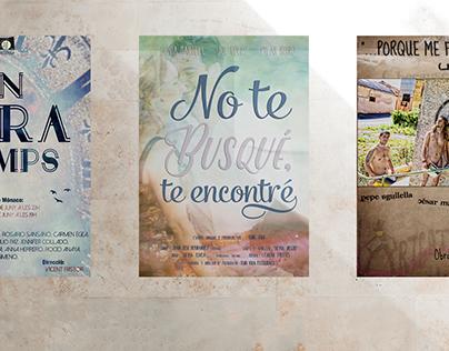 Cartells de Teatre, Curtmetratge i Cafè teatre.