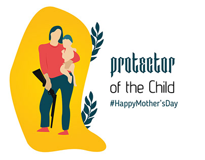 Mother Protecting her child illustration for Mothers Da