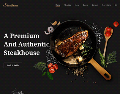 Landing page for Steakhouse