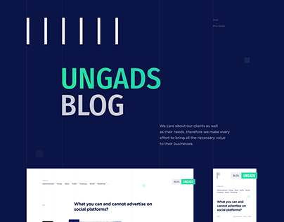UNGADS Blog design