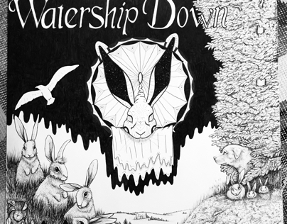 "Watership down 32""x40"""