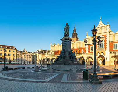 Krakow - empty Main Market Square