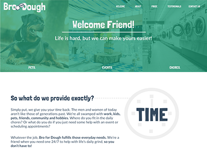Bro For Dough Website Design