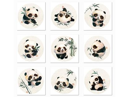 【萌宠by雪娃娃】——熊猫&竹