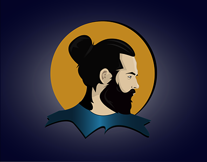 flat portrait illustration/Avatar