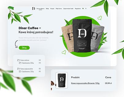 Dinar Coffee - UI/UX