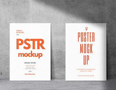 Poster Mockup Realistic Background