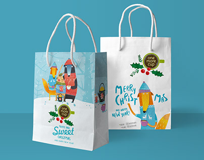 OneMoreCup Christmas Paper Bag