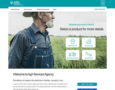 Agricultural Insurance Website Design