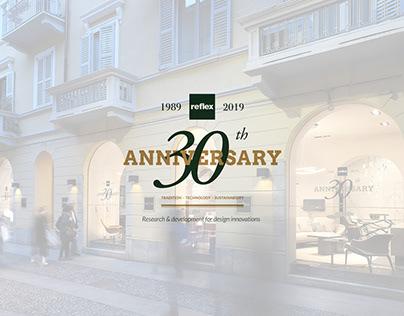 Reflex S.p.a. - 30th Anniversary creative assets