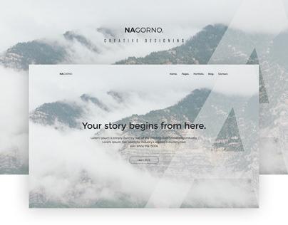 Creative Landing Page Free PSD