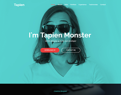 Tapien - CV Resume Personal and Portfolio Muse Template