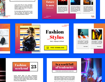 Free Power Point Template Fashion Style Slides