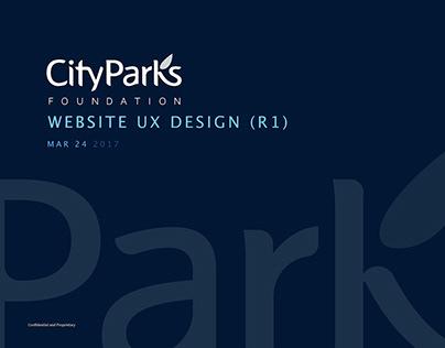 CityParks Website UX
