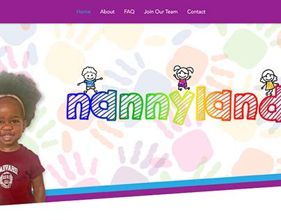 Nannyland Logo and Website Refresh