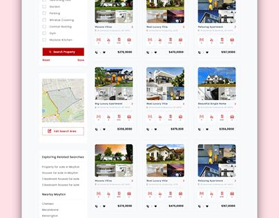 Reasonable AgencyProperty Listing UI Design