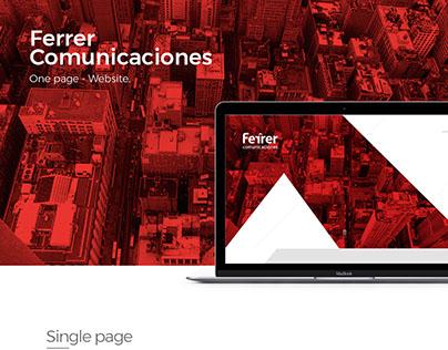 Ferrer Comunicaciones. Website