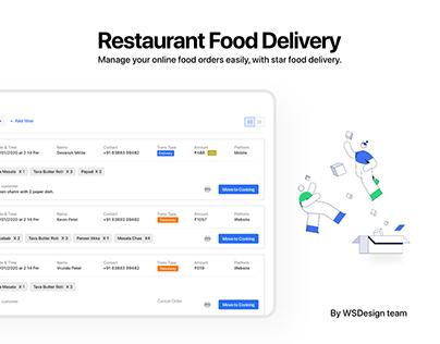 Restaurant Food delivery dashboard - UIUX Design