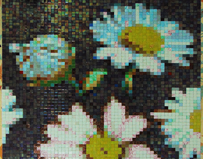 Daisies- glass mosaic