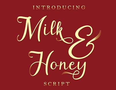 Free Font: Milk & Honey