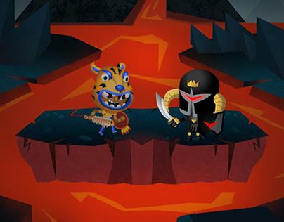 World of Warriors Brawl minigame