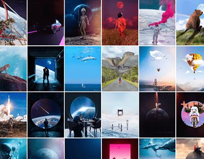 Photoshop + Blender 3D Edits