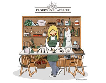 Flores en el Atelier