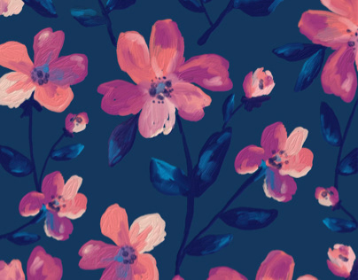 Sapphire floral pattern