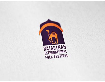 Rajasthan International Folk Festival Logo Process