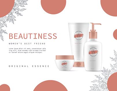Branding of''Beautiness'' cosmetics company