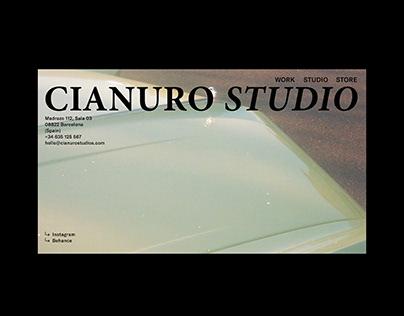 Cianuro Studio - Visual Identity & Website