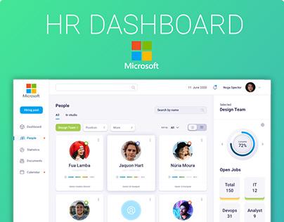 HR Dashboard Microsoft design