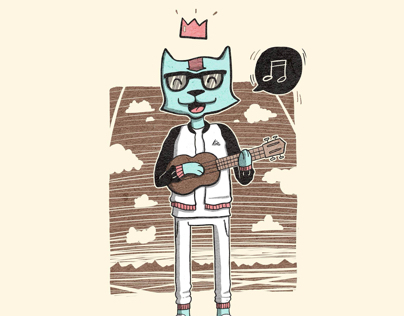 Ukelele cat