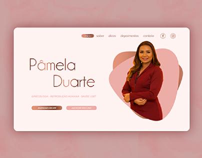 Landing page para ginecóloga Pâmela Duarte