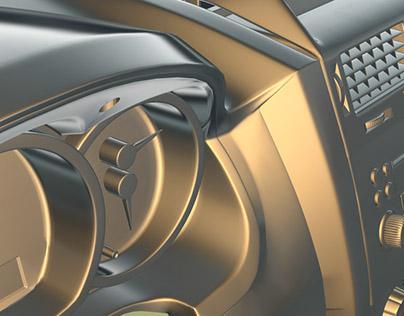 Interior Car 3D Modeling 2