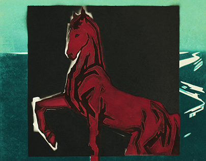 *BATHING OF A RED HORSE in THE BLACK SQUARE* 2017