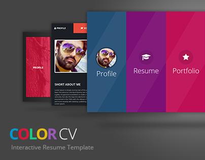 ColorCV - Interactive Resume/CV Template