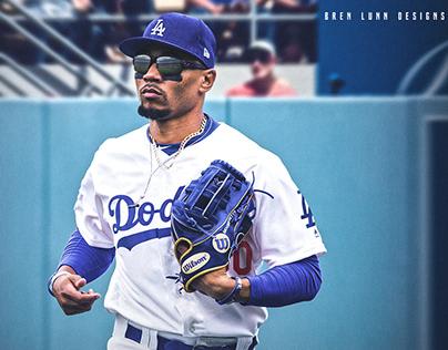 Mookie Betts Los Angeles Dodgers Jersey Swap