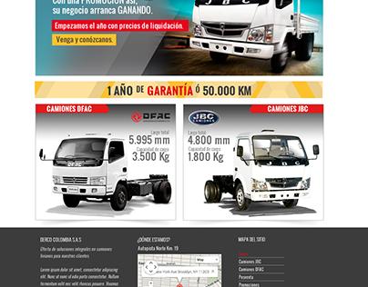 Diseño de sitio web: Camiones Derco