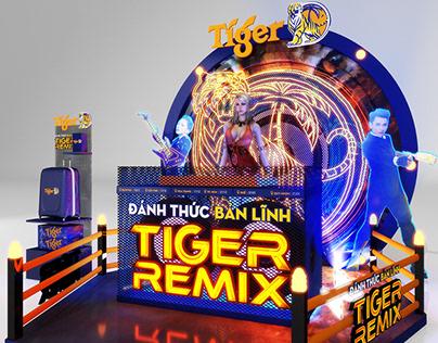 Tiger Remix booth design