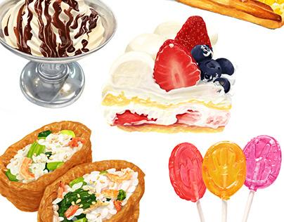 Variety of foods