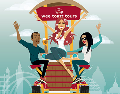 Wee Toast Tours – 2020 branding illustration